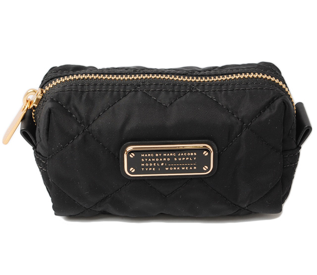 Marc By Jacobs Cosmetic Pouch Minipci Kiltingstetch Black M0005471