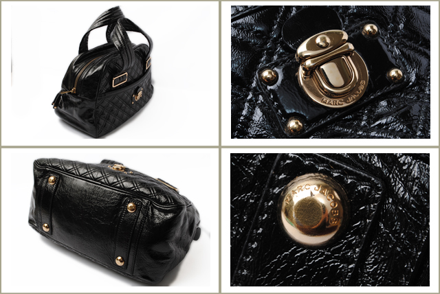 77c22be395 Import shop P.I.T.  MARC JACOBS Marc Jacobs mini Boston bag patent ...