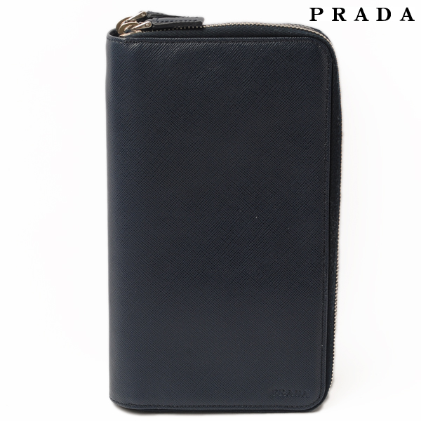 8f83566e50a7 Prada PRADA long wallet / travel case / clutch 2M1303 SAFFIANO / saffiano  BALTICO / Navy ...
