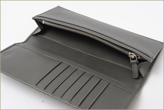 358731657f06 switzerland 1 prada prada long wallet men saffiano antracite gray 2m0836  3aeb3 53a9a