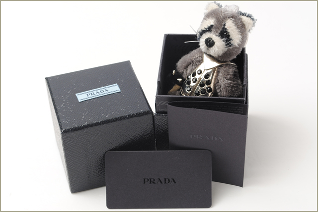Prada PRADA Keyring / Keychain Christmas limited edition 1ARH56 Beatrix / Coon BIANCO