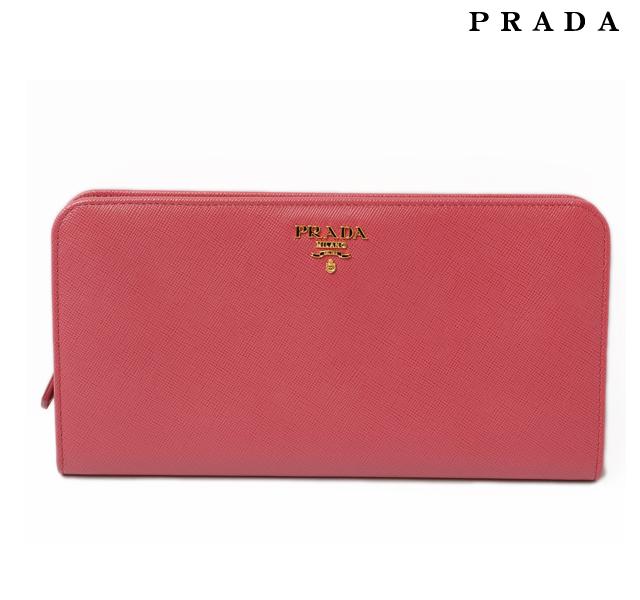 Prada PRADA long wallet 1M1316 SAFFIANO MULTIC / calf PEONIA