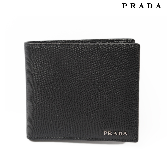 a59e76d810 Prada PRADA for men BICOLO SAFFIANO wallet 2M0738 / saffiano NERO/MERCURI.