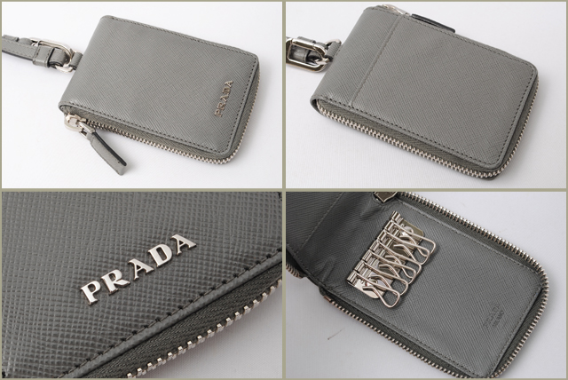 a03f8cc06012 ... where to buy prada prada key holder 6 push hand strap with 2m1382 saffiano  leather mercurio