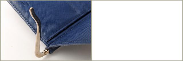 프라다 지갑/머니 클립 PRADA 접 지갑 2M1077 SAFFIANO METAL 펀칭 레더 코발트 블루 아울렛