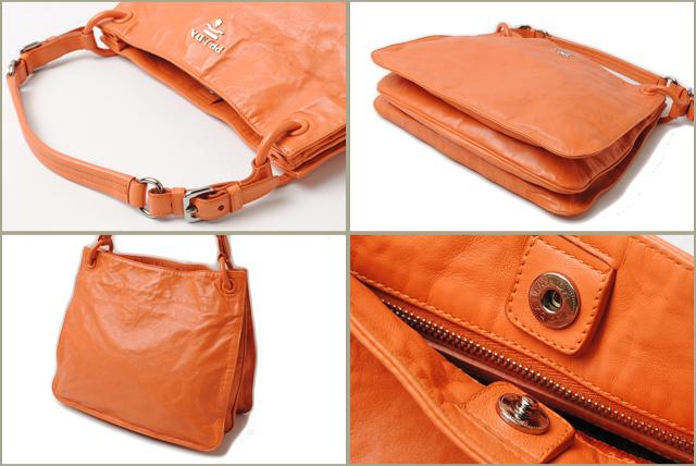 Prada tote bag / shoulder bag PRADA vintage leather light orange