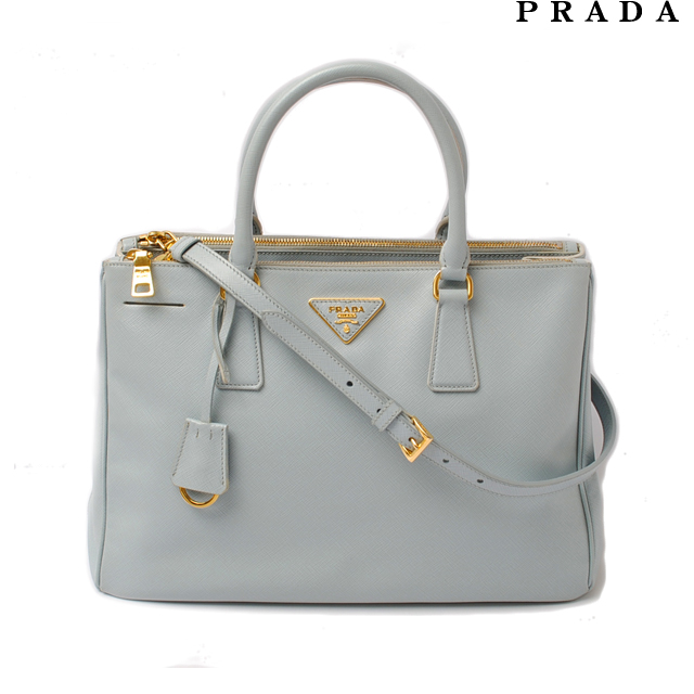 Prada Handbag   shoulder bag. PRADA BN2274 saffiano LAGO   light blue 2-way  strap