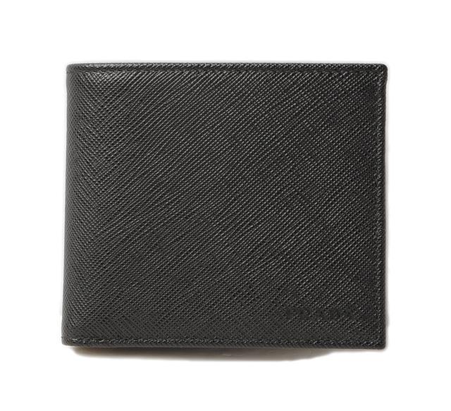 プラダ 財布 PRADA 折財布 2MO003 メンズ向け SAFFIANO/サフィアノ NERO/ブラック 未使用【中古】