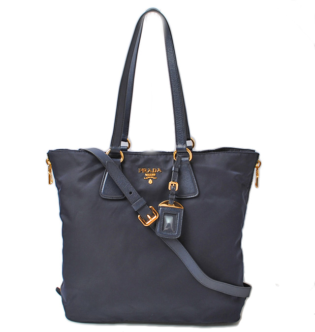 9adeec0af92e ... store prada tote shoulder bag prada nylon blue 2 way strap 05837 a0c9c