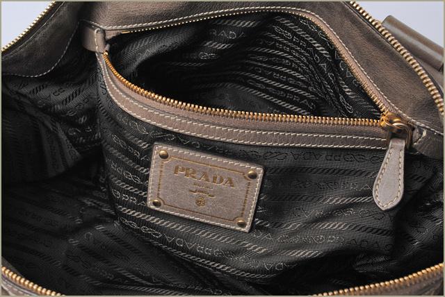 Prada Handbag   shoulder bag PRADA vintage leather Greige 2-way strap bf9f77697365b