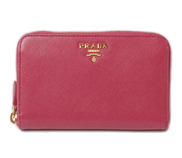 1f68229ade62 PRADA wallet saffiano metal Fuchsia pink. PRADA プラダ 長財布 レザー キルティング スタッズ  アメティスタ(AMETISTA)