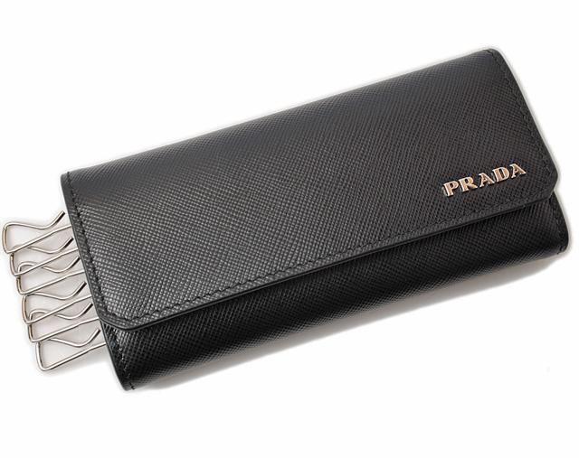 プラダ キーケース PRADA 2M0223 SAFFIANO CORNER/サフィアノ NERO/ブラック未使用【中古】