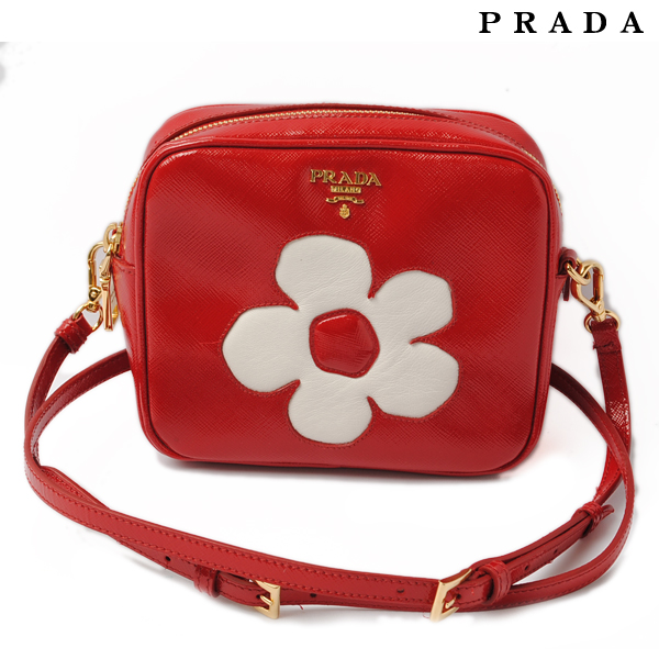 6202f255ef01e1 Import shop P.I.T.: Patent leather flower motif ROSSO+BIANCO BP610M ...