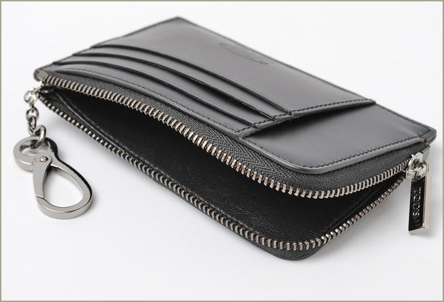 토 드 TOD 'S 동전 지갑/카드 가방 키 체인을 갖춘 남성 가죽 블랙 XAMLITFC200ZACB999