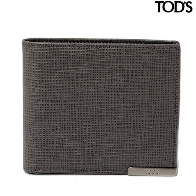 トッズ 財布 TOD'S メンズ 2折財布/札入れ 型押しレザー ライトグレー XAMBRRC0300NPHB408