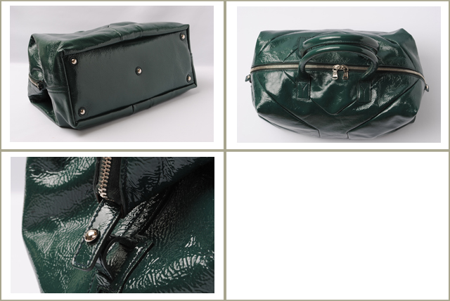58aaed8b6264 Yves Saint Laurent Yves Saint Laurent mini Boston bag (EASY) easy patent leather  dark green 208314 AB80N