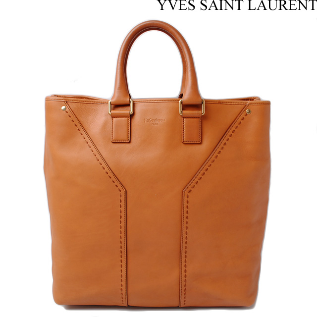 Yves Saint Laurent Tote Bags Handbags Leather Camel 189542