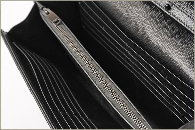a457642cffdc Saint-Laurent chain wallet   shoulder bag   clutch bag SAINT LAURENT  leather black 377828 BOW05