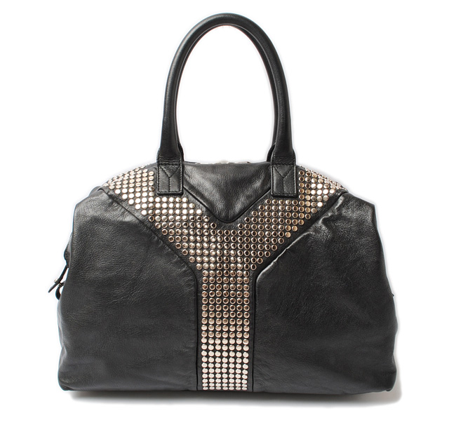 Yves Saint Laurent Handbags Boston Bag Easy Rock Studded Black 225437