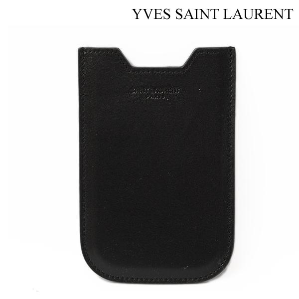 buy online 82070 6514b SAINT LAURENT Saint-Laurent iPhone case / smartphone case leather black  315868 [new article] [easy ギフ _ packing] [smtb-TK]