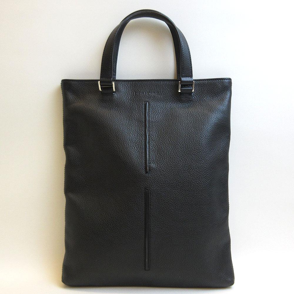 ディオールオム ハンドバッグ トート ブラック 黒 Aランク メンズ レディース カーフレザー DiorHomme 中古 六甲道店