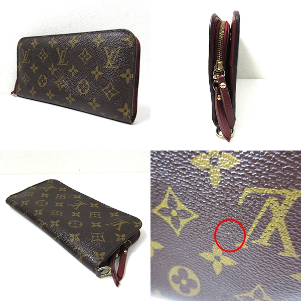 Louis Vuitton accessory ポルトフォイユ アンソリット long wallet monogram leather rouge Bordeaux red system B rank Lady's M66702 LOUISVUITTON