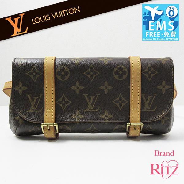 Louis Vuitton Bag Pochette Male Roux Est Monogram Leather Clutch Porch Hips B Rank M51159 Louisvuitton
