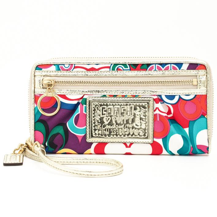 79a39b1f COACH coach poppy pop C zip around long wallet wallet
