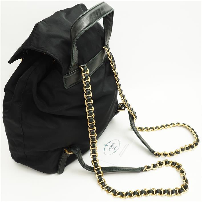 ce96ccd69e0c PRADA Prada chain shoulder Pocono B4821 nylon Lady s bag backpack rucksack