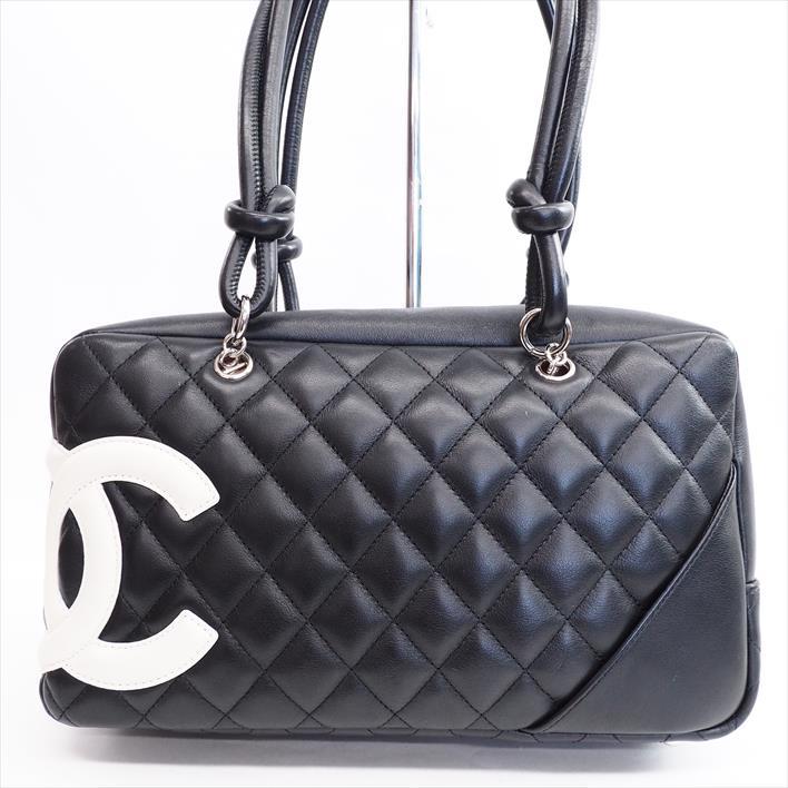 Chanel Bowling Bag Cambon A25171 Lambskin Lady S Boston