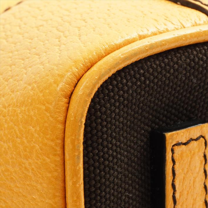eeb2a8a4c2b5 BRAND SHOT TOKYO  PRADA Prada bowling bag B11174 canvas X leather ...