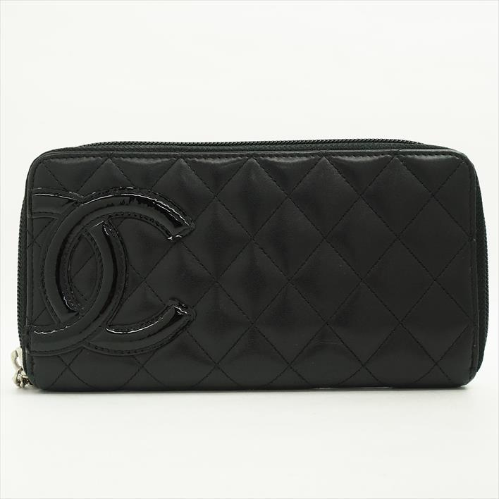 751170fea8e4 CHANEL Chanel round zip Cambon A50078 calfskin Lady's long wallet (there is  a coin purse ...