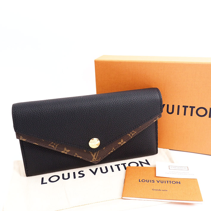 size 40 25507 b64fa LOUIS VUITTON ルイヴィトンポルトフォイユドゥーブルモノグラム M64319 monogram canvas Lady's wallet  long wallet