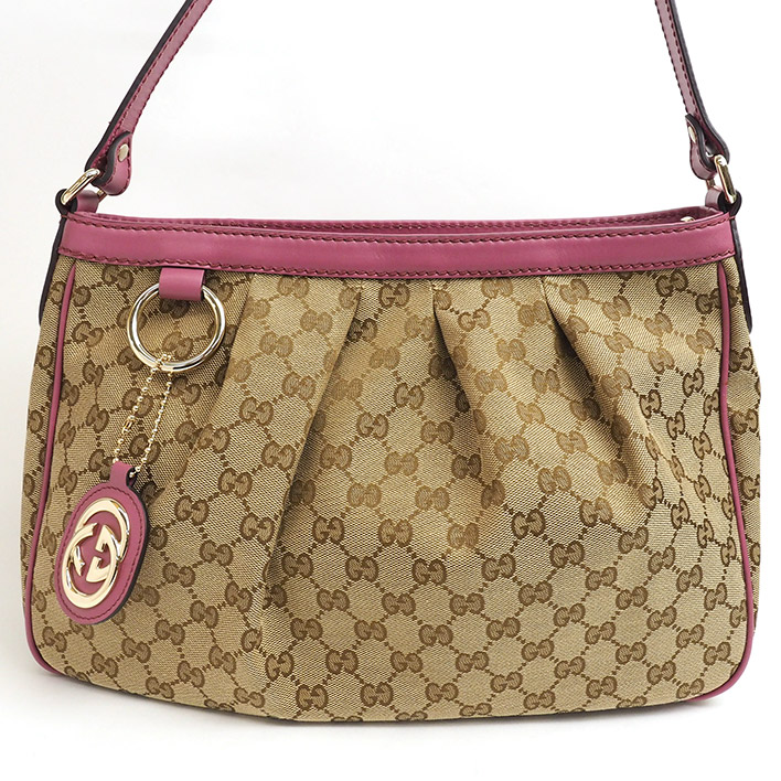 93e1cd6d3138 GUCCI Gucci Sioux key 2WAY shoulder GG キヤンバス 296834 493075 GG canvas X  calf-leather ...