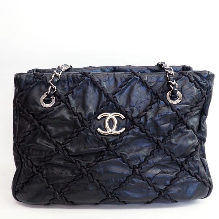 dce0e251ac5e CHANEL Chanel silver chain ultra stitch A48495 leather Lady s tote bag