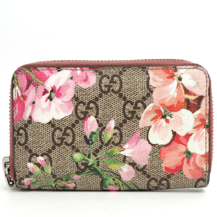 5f86e837fae70 421310 Gucci GG pattern flower print round fastener coin purse GG bloom  2149 Lady's