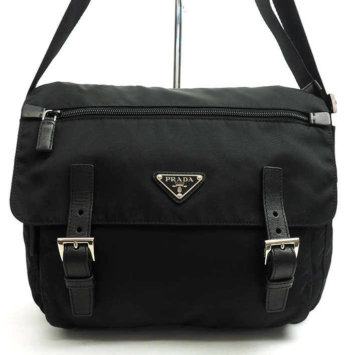 b4269ca6ae7a Prada messenger bag silver metal fittings Pocono BT6671 man and woman  combined use ...