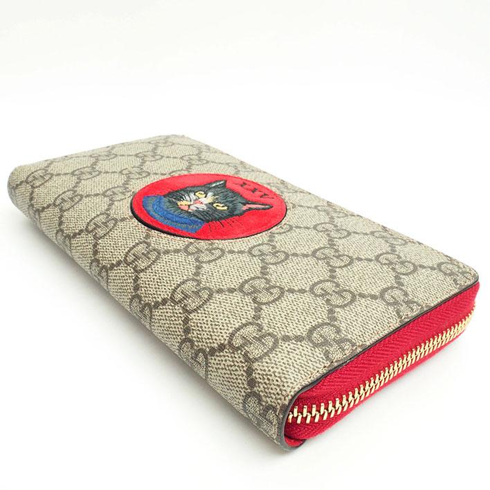 4eeb316e280 Gucci GG pattern Mystic cat round zip long wallet GG スプリーム 499382.496334  Lady s