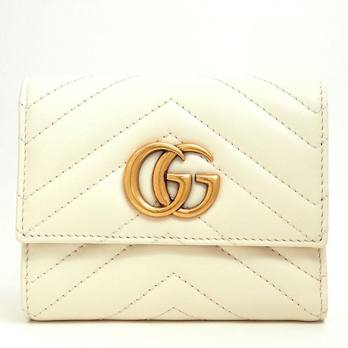 1a06f194b42 BRAND SHOT TOKYO  GUCCI Tri-fold wallet GG Marmont 404 302-2149 bi ...