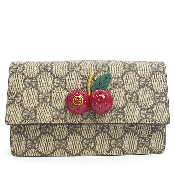 b2e0e356bea5 BRAND SHOT TOKYO: GUCCI GG pattern cherry with chain mini bag GG ...