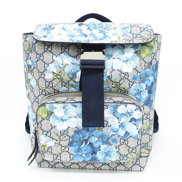 16916a5e3b8 GUCCI Small GG pattern × antique rose floral print GG Blooms 410544 200047  Backpack-Luc ...