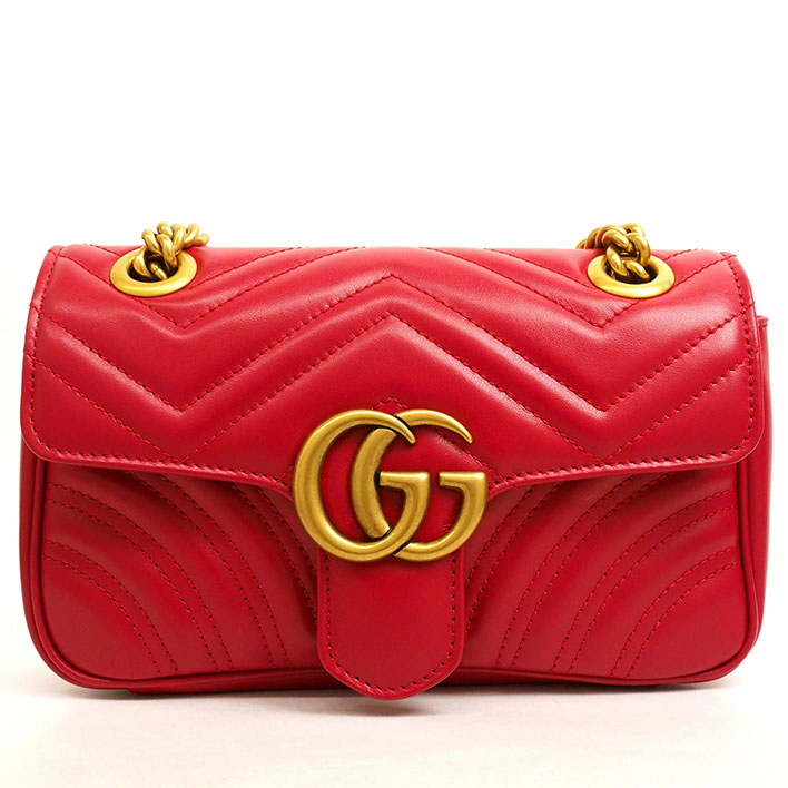 619cf35505 GUCCI GG double G heart quilting mini chain shoulder antique gold GG  Marmont 446744 213048 Shoulder bag