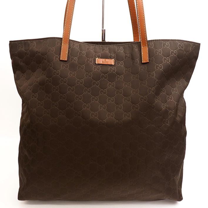 c2b098f0e06 BRAND SHOT TOKYO  GUCCI GG pattern nylon leather shoulder bag GG ...