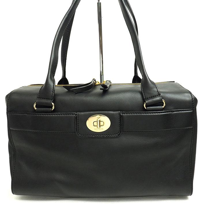 【中古】【ほぼ新品】ケイト スペード パラティ ドラムバッグ ショルダー 肩掛け ゴールド金具 【ボストンバッグ】