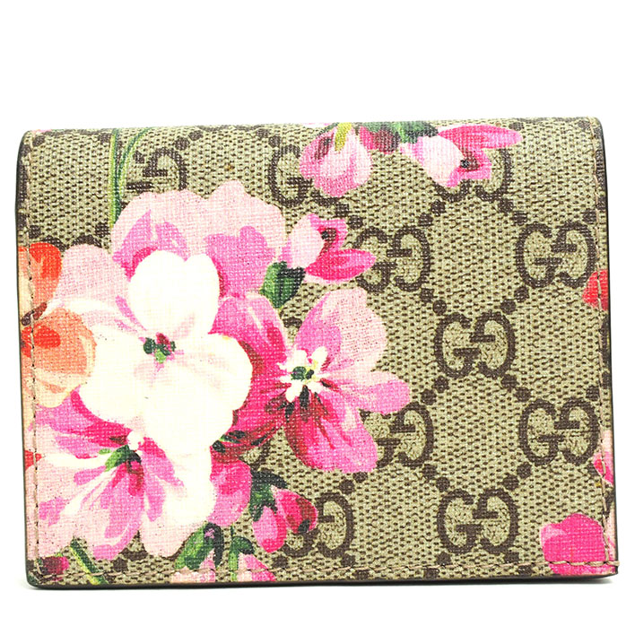 9fa1489e6f664 Gucci GG pattern flower print floral design card case billfold GG bloom  410088.525040 card case