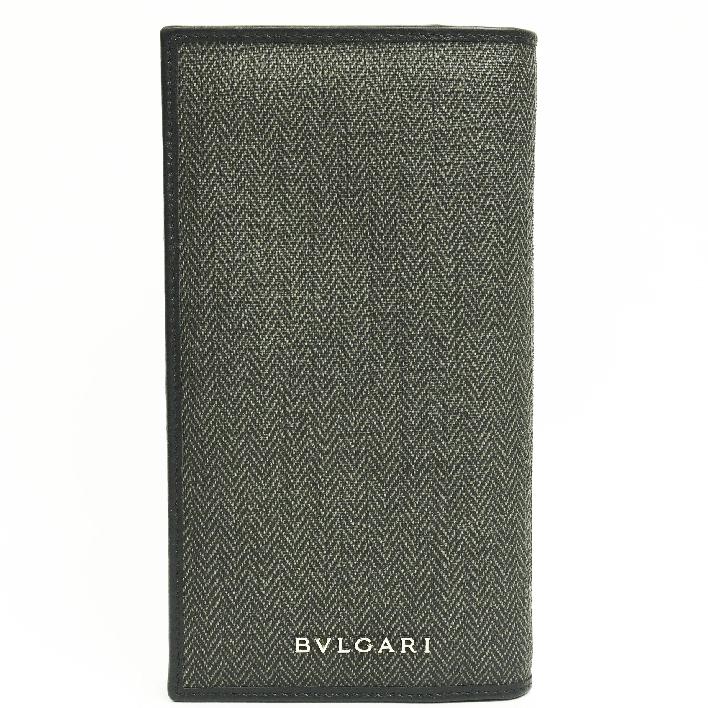 size 40 12856 1ae86 Entering Bulgari logo folio long wallet weekend 32582