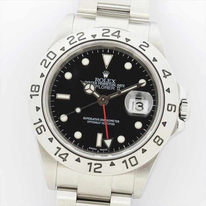 【信頼】 【】【オーバーホール・新品仕上げ済み】ROLEX ロレックス エクスプローラーII 16570 D230011(2005年製造)【腕時計】, エンターキングオンライン 002b0c93