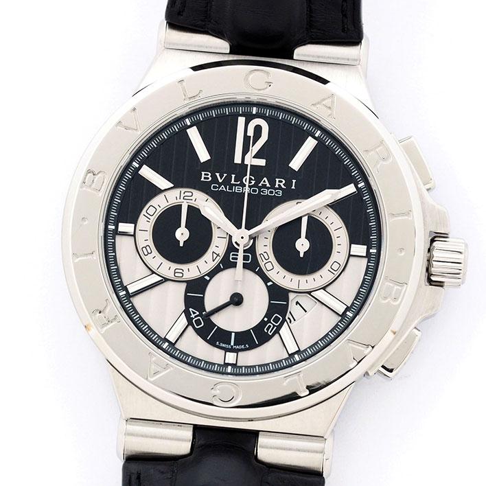 【中古】ブルガリ ディアゴノ カリブロ 303 Ref. DG42BSLDCH メンズ BVLGARI Diagono CALIBRO 303【腕時計】 ギフト プレゼント