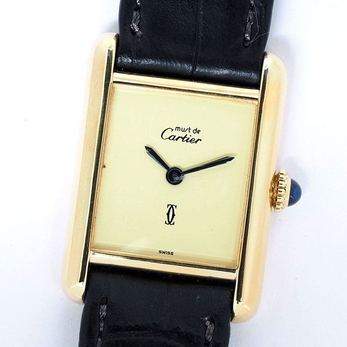 【中古】カルティエ マストタンク レディース Cartier must TANK【腕時計】 ギフト プレゼント