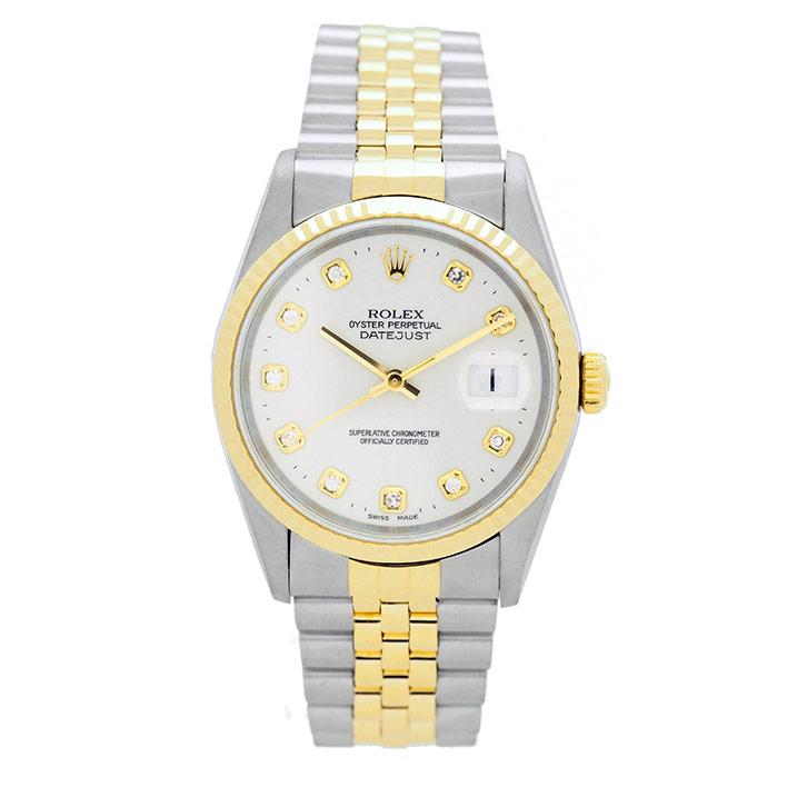 【エントリーでポイント5倍】 【中古】ロレックス デイトジャスト Ref. 16233G メンズ ROLEX DATEJUST【腕時計】 ギフト プレゼント